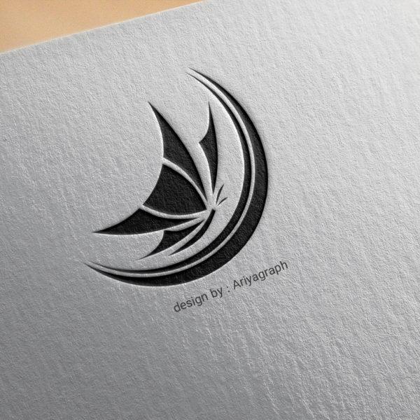 طراحی لوگو سالن زیبایی پروانه